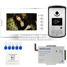 """Chuangkesafe. 7 """"Pantalla a Color de Vídeo Teléfono de Puerta de Intercomunicación Kit + RFID de Control de Acceso Timbre Cámara de Alimentación Al Aire Libre En la Acción"""