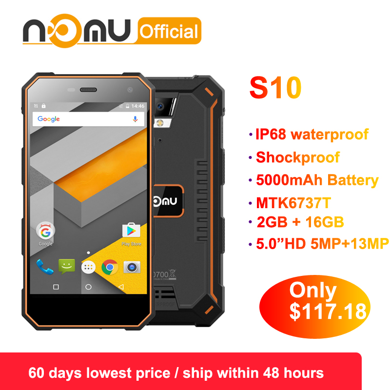 Original nomu S10 2GB 16GB 4G IP68 Android 6 0 8 0MP Dual SIM Mobile Phone