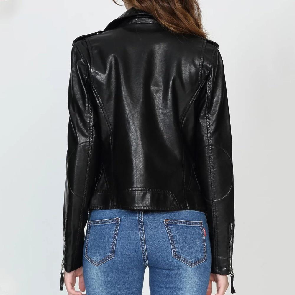 Femmes En Rivets Cuir Pour Pu Mode Noir Vintage 2018 De Oblique Moto Designer Nouvelle Steelsir Manteaux Style Veste Biker Zip wxORFvP0q