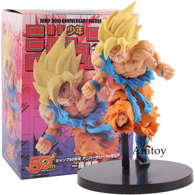 SALTAR 50th Anniversary Goku De Dragon Ball Z Son Goku PVC Figura Collectible Toy Modelo 22 cm