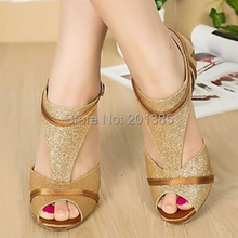 New Women Gold Glitter Salsa Ballroom Tango Latin Dance Dancing Shoes Bachata Dance Shoes ALL Size