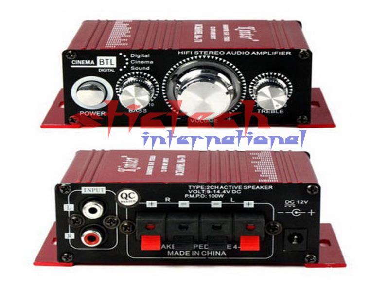 by DHL or Fedex 10pcs 12V Kinter Car Audio Power Amplifier MA 170 2 CH 2