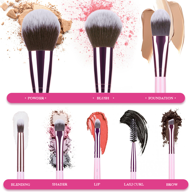 MSQ New Arrival Makeup Brushes Professional Cosmetics Brush Set 8pcs High Quality Synthetic Hair Brush Set 1