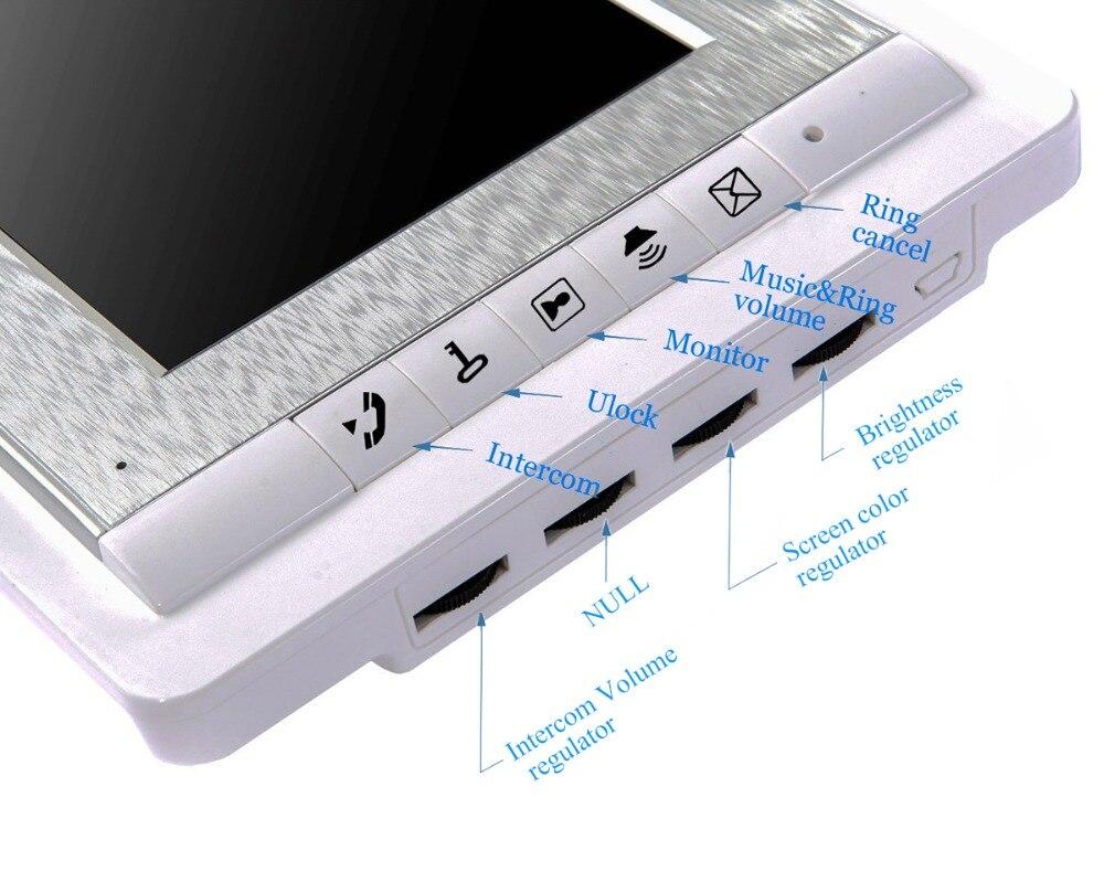 "Image 5 - 2/3/4 Units Apartment intercom system Video Door Phone Intercom Kits Aluminum Alloy Camera 7"" Monitor video Doorbell 7 ID keyfobVideo Intercom   -"