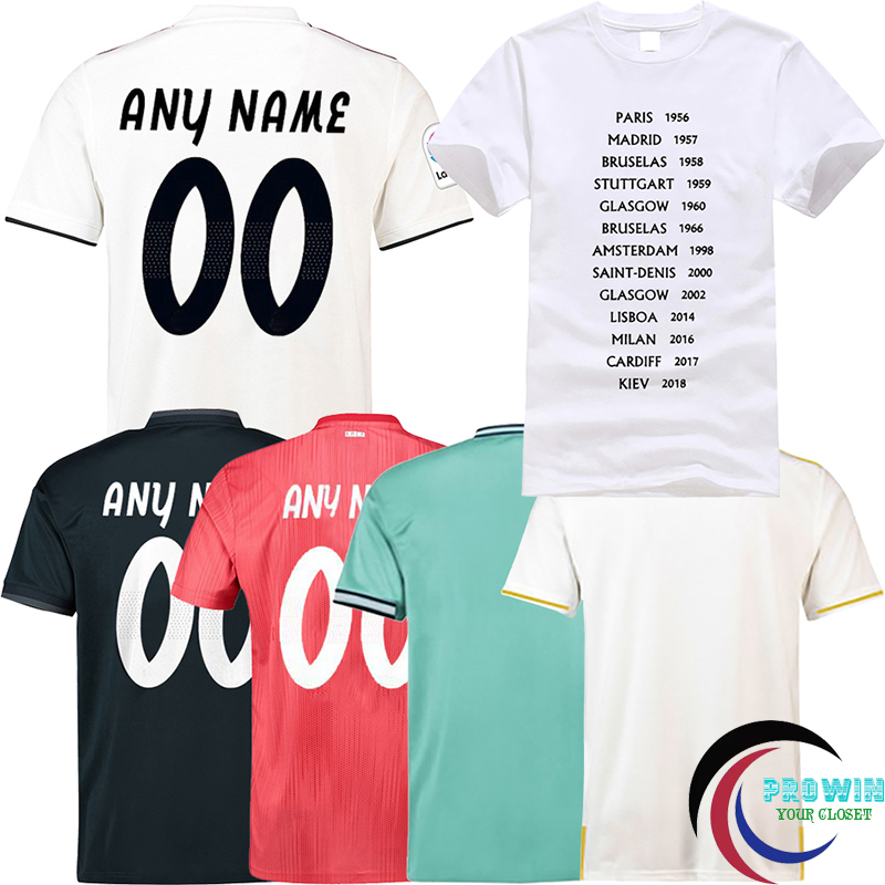2019 Men Cool Tops Tees T Shirts men Casual Apparel Fashion Camiseta for Real Madrid Home Away Third New 19/20