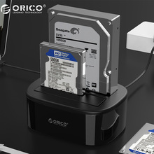ORICO USB 3.0 to SATA Dual-Bay Hard Drive Docking Station for 2.5/3.5 inch HDD/SSD with Offline Clone Function [UASP Protocol]