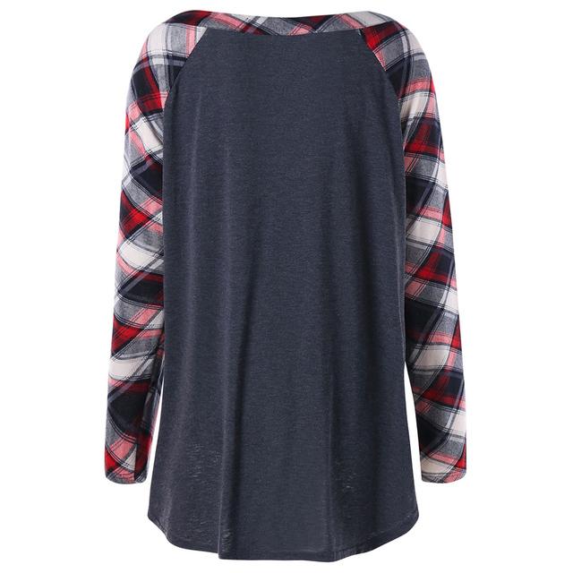CharMma 2017 Autumn Spring Casual Women Loose Shirt Ladies Office Plaid Long Sleeve Shirts Big Plus Size 4XL 5XL Women Shirt