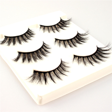 Buenas 3 pairs natural false eyelashes fake long makeup 3d lashes multi-layers new winged 3D eyes make up tools