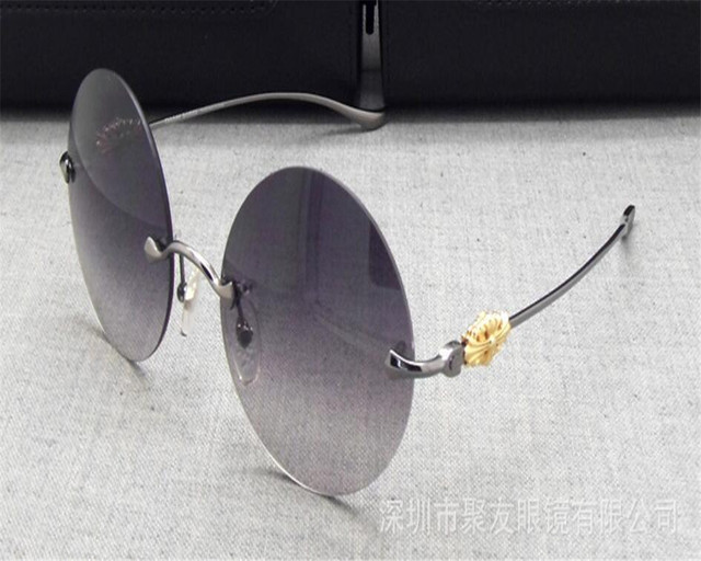 08caed4a4f14 Round Frame Brand Unisex Retro Rimless Super Light Alloy Driving Polarized  Sunglasses Gold Silver UV400 Sunglasses Eyewear