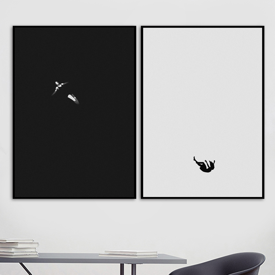 Wall-Art-Canvas-Painting-Abstract-Girl-Alone-Meditation-Art-Prints-Nordic-Posters-And-Prints-Wall-Pictures