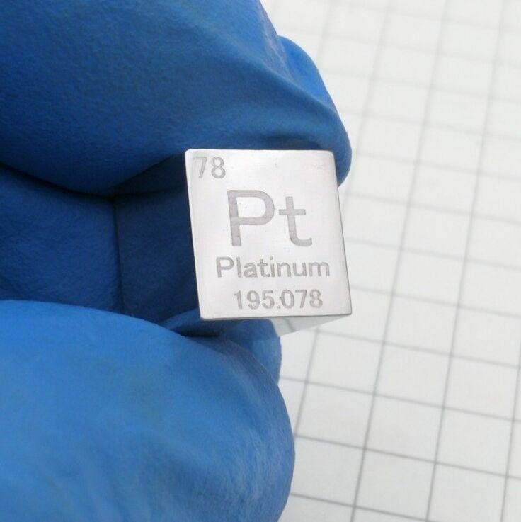 Platine Pt métal 10mm densité Cube 99.95% pur pour la Collection d'éléments