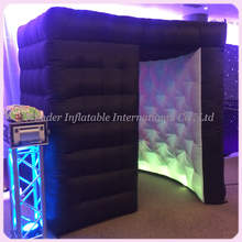 HOT !!!Fashionable Black Inflatable photo booth/ Inflatable Photo Studio 2.4*2.4*2.4m
