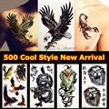 3D Large Black Eagle Tattoo Stickers For Men YF-H025 White hawk Removable waterproof tattoo fake arm sheets Women Paste