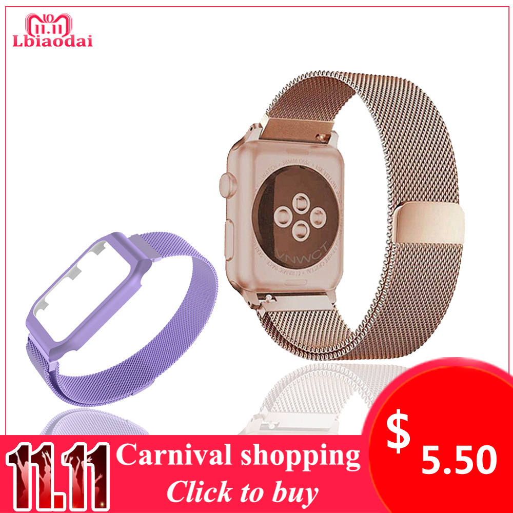 Milanese Loop Strap For correas Apple Watch band 42mm 38mm Stainless Steel Bracelet iwatch 3/2/1 wrist watchband wristwatch belt so buy for apple watch series 3 2 1 watchbands 38mm belt 42mm stainless steel bracelet milanese loop strap for iwatch metal band