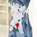Frete Grátis 2 pcs Bonito do Filhote de Cachorro Forma Suportes Para Cortinas de Janela cortina Fechos Fivela Gancho do Cinto Tieback móveis Para Casa
