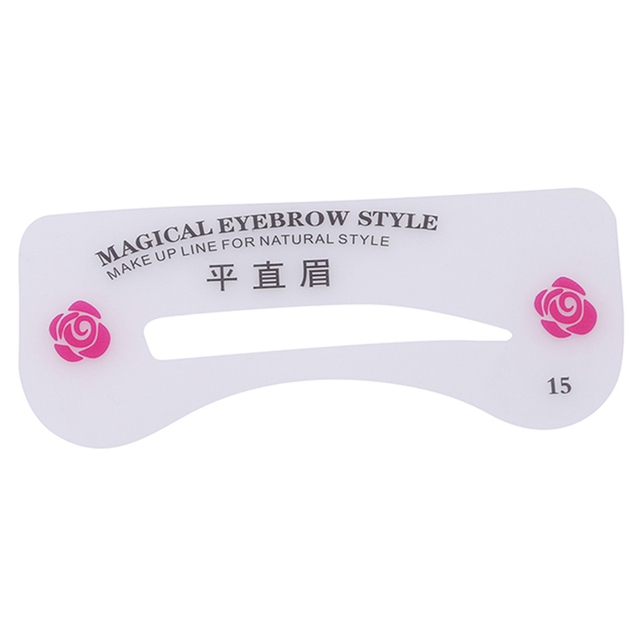 24 Pcs New Eyebrow DIY Drawing Guide Style Shaping Grooming Easy Card Model Makeup Beauty Kit Reusable Stencil Eyebrow Sets 3