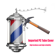 Retro Metal Stripes Rotating LED Light Hairdressing salon revolving lamp Hair Salon Barber Shop Light Open Outdoor Sign