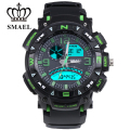 Green LED Digital Waterproof SMAEL TOP Poducts Activity Quartz Outdoor Multifunctional Luminous Watch Fashional Colorful  1327