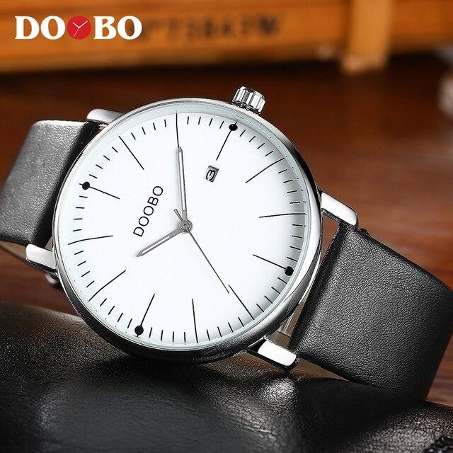 2567e62f1b0 DOOBO Moda Top Marca de Luxo relógios de Pulso Dos Homens Luminosos Relógio  Men Watch Auto
