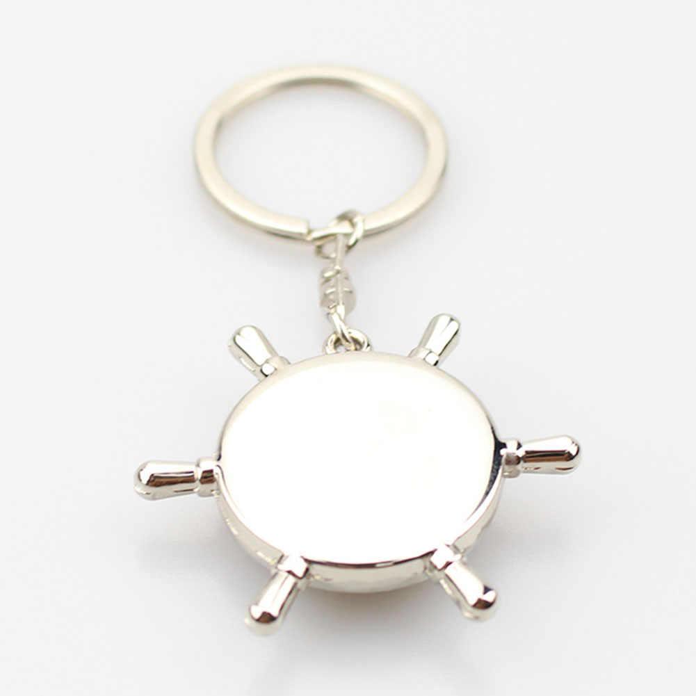 Bússola Pingente de Bolsa Chaveiro Saco do Anel Chave Do Carro criativo Homens Mulheres Ornamento