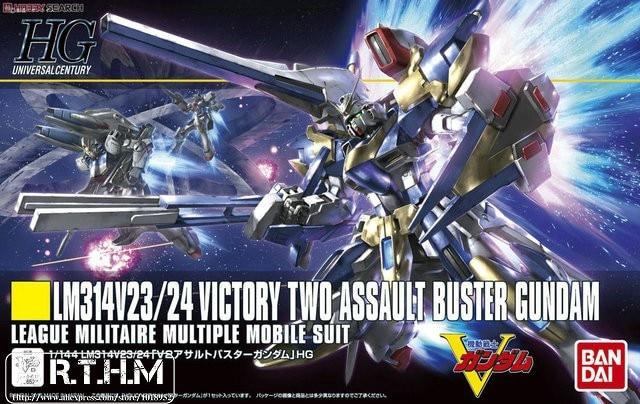 1PCS Bandai HGUC 189 V2 AB Gundam V2 Assault Buster Mobile Suit Assembly Model Kits lbx toys Anime action figure TOYS Gunpla bandai 1 100 mg assault purples gundam model page href page 5 href