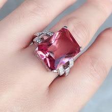 CSJ גדול אבן 13.5CT Zultanite טבעת סטרלינג 925 כסף אוקטובר לחתוך 12*16MM נוצר Sultanite נשים תכשיטים חתונה מסיבת מתנה