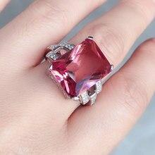 CSJ duży kamień 13.5CT zultanit pierścień srebro 925 Oct Cut 12*16MM utworzono sultanit Fine Jewelry kobiety Wedding Party prezent