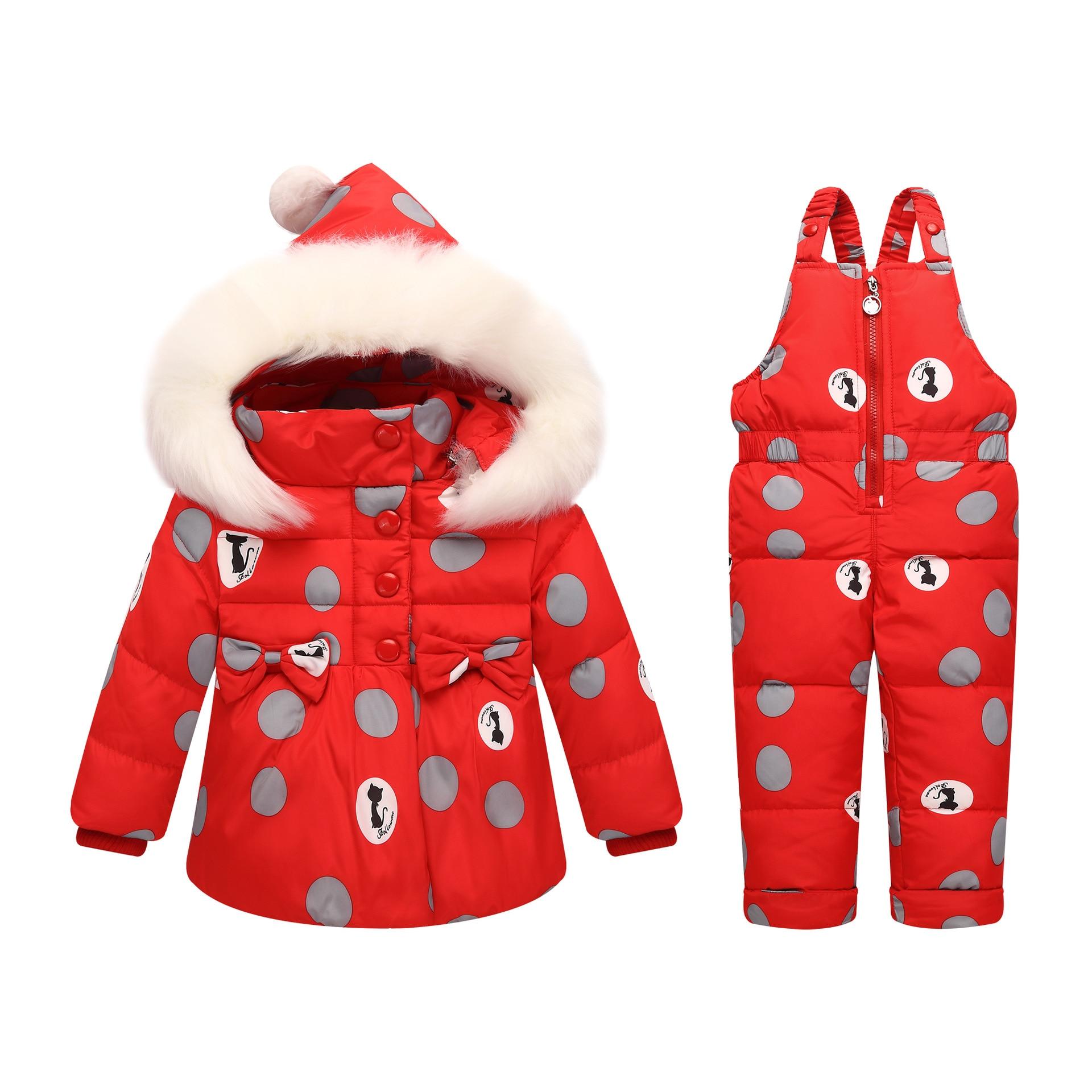 Brillant Olekid-30 Grad Russland Winter Kinder Mädchen Kleidung Set Unten Jacke Mantel + Overall Für 1-4 Jahre Kinder Baby Mädchen Schneeanzug