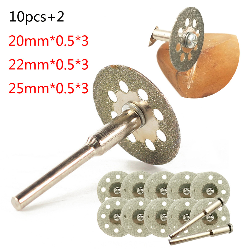 New Dremel Accessories 20-25mm Diamond Dremel Cutting Disc For Metal Grinding Wheel Disc Mini Circular Saw For Drill Rotary Tool