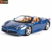 Bburago 1:24 Ferrari 458spi collection manufacturer authorized simulation alloy car model crafts decoration collection toy tools