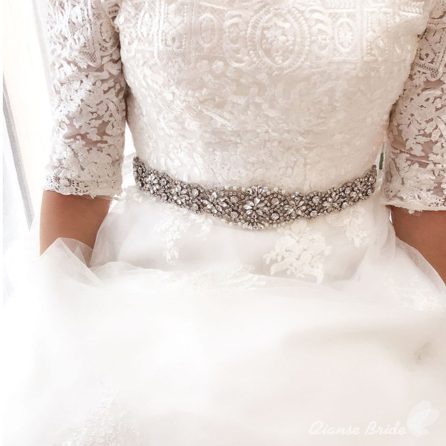 Crystal Wedding Belt Bridal Sash Rhinestone Sash Wedding Dress Sash