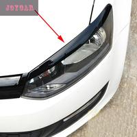 FOR 14 15 VW NEW POLO HEADLIGHT EYEBROWS EYELIDS TRIM COVER STICKER CAR ACCESSORIES