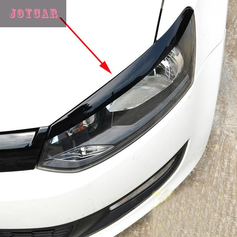 buy for 14 15 vw new polo headlight eyebrows eyelids trim cover sticker car. Black Bedroom Furniture Sets. Home Design Ideas