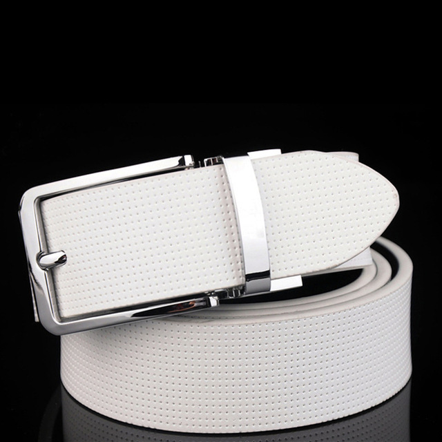 2017 Fashion designer Pin Buckle Genuine Leather Men Belts Luxury For Men Men's Luxury Brand Fashion Leather Belt free shipping