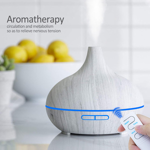 Image 5 - 3pcs Wood grain Air  Humidifier set Aroma Essential Oil Diffuser Ultrasonic Cool Mist Purifier 7 Color Change LED Night light
