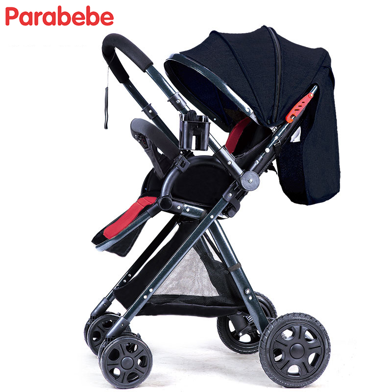 Bébé panier 6.5 KG lumière enfants poussette voiture bébé système de voyage landaus grandes roues arrière pliant Tricycle pas cher bébé poussette acheter