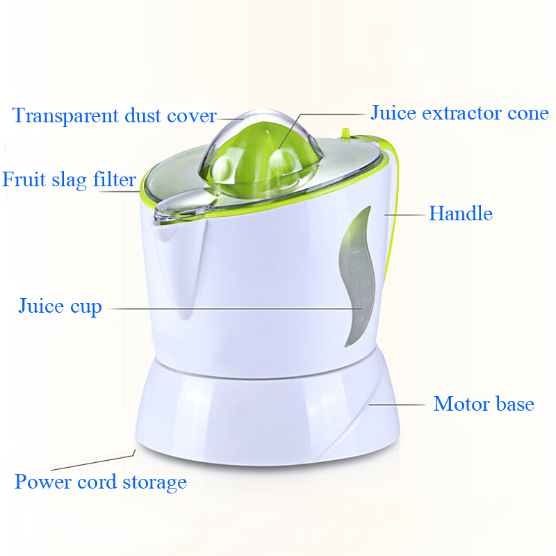 VOSOCO juicer Small sized household electric fruit juice machine Squeezed orange juice Multifunction Liquidizer Double turn mill