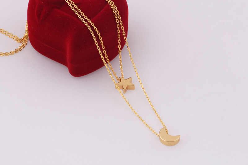 Boho étoile lune Multi couche pendentif collier pour femmes 2018 bohème fleur colliers Vintage mode collier bijoux fantaisie