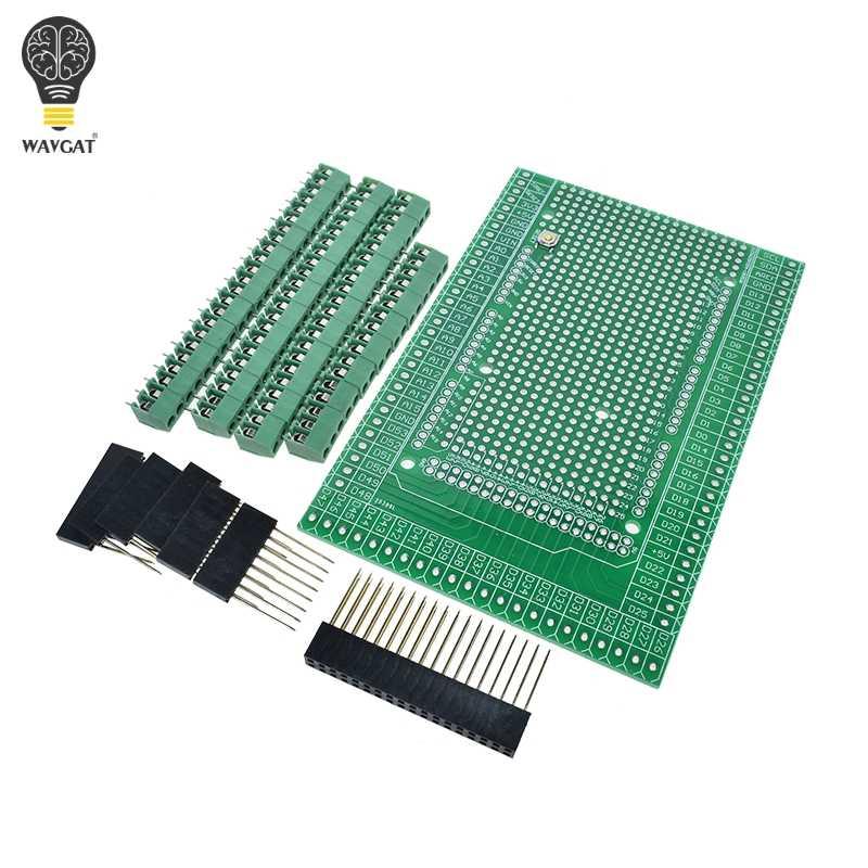 HUIMAI Double-side PCB Prototype Screw Terminal Block Shield Board Kit For MEGA-2560 Mega 2560 R3 Mega2560 R3
