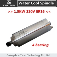 longer 1.5KW water cooled spindle 80MM 220V ER16 with 4 bearing 213mm length