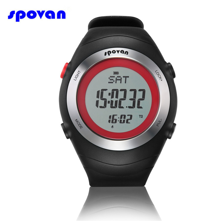 SPOVAN Sport Watch Men Women Heart Rate Monitor Sensor 3D Pedometer Calorie Calculator Digital Watches Clock Relogio Masculino multifunction pulse heart rate calorie wrist watch silver black