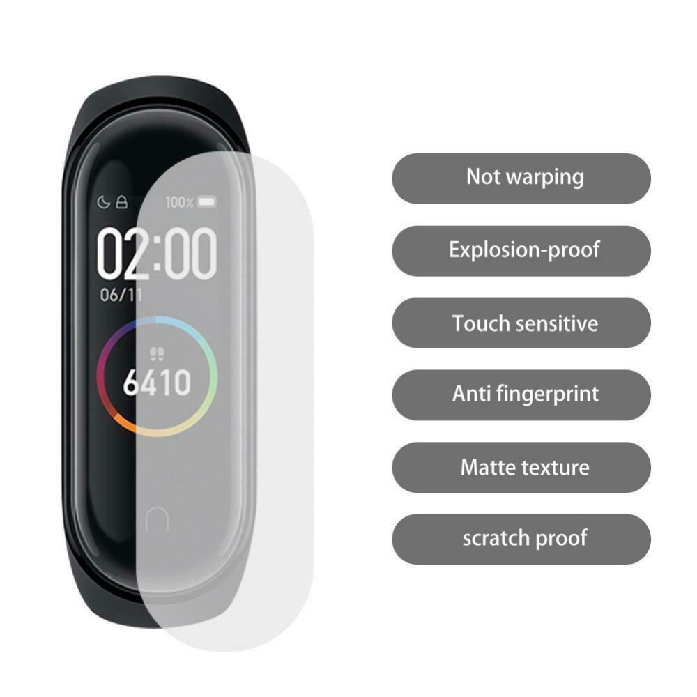 5Pcs HD Screen Protector For Xiaomi Mi Band 4 Watch Explosion-proof LCDPet Matte Full Cover Film Anti Scratch Smart Accessories
