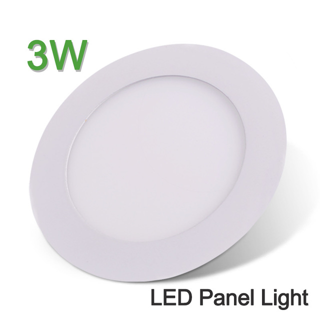 led panel light 3w 220v led downlight round recessed led ceiling light super bright smd2835 indoor