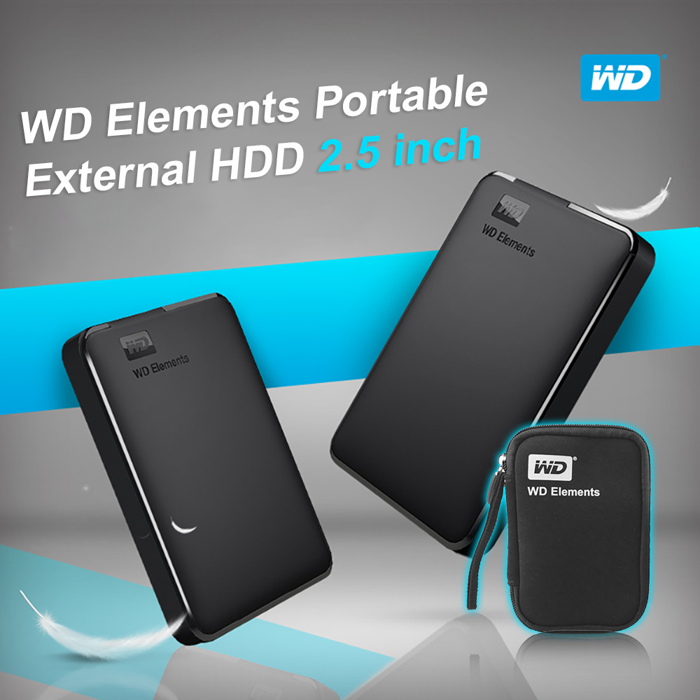 Western Digital  WD Elements Portable External hdd 2.5 USB 3.0Hard Drive Disk 500GB 1TB 2TB 3TB 4TB  Original for PC laptop-in External Hard Drives from Computer & Office    2