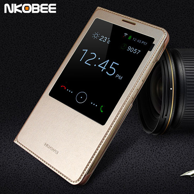 timeless design 80fdb d95db US $12.99 |NKOBEE For Huawei Mate 7 Flip Cover Case Smart Window For Huawei  ascend Mate7 Mobile Phone Cases For huawei Mate 7 Original-in Flip Cases ...