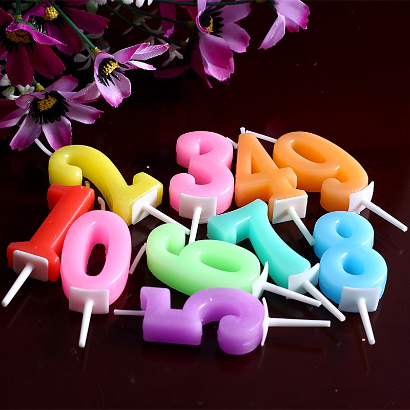 Creative Childrens Birthday Candle Cake Smoke Free Number Letters Candles Baby Party Decoration Supplies