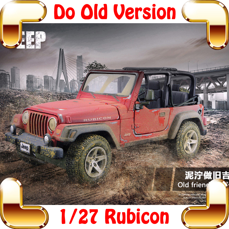 New Arrival Gift Rubicon Old Version 1/27 Classic Metal Model Diecast Collection Jeep Car Vehicle Model Scale Toys Decoration maisto jeep wrangler rubicon fire engine 1 18 scale alloy model metal diecast car toys high quality collection kids toys gift