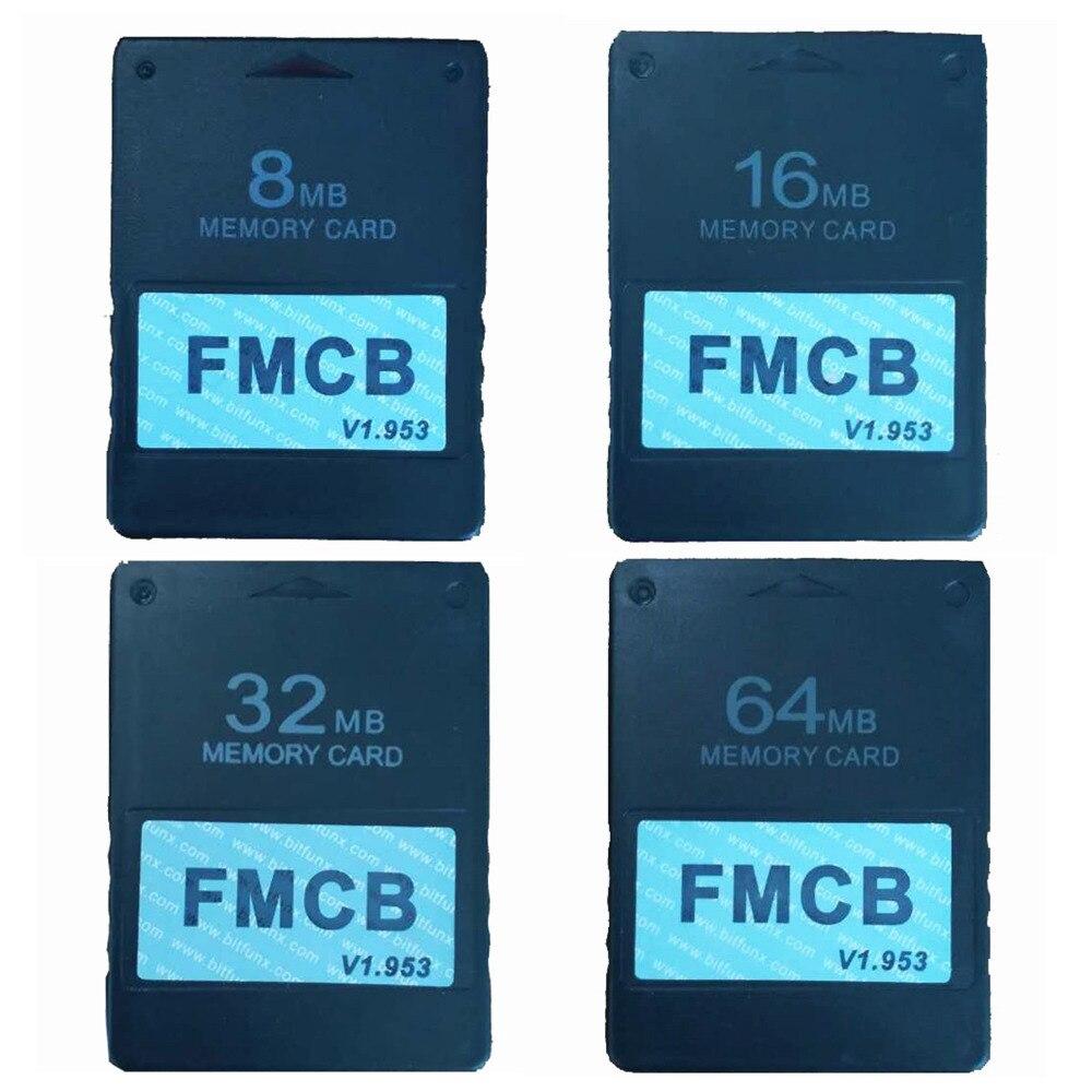 Tarjeta FMCB v1.953 McBoot gratis para Sony PS2 Playstation2 8 MB/16 MB/32 MB/64 MB tarjeta de memoria OPL MC boot
