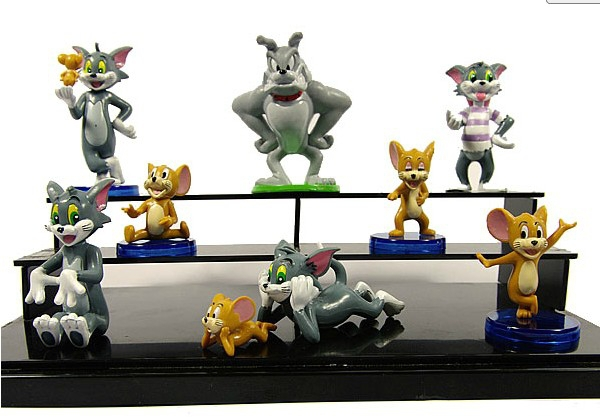 Carino cartone animato di tom e jerry pvc action figure modello