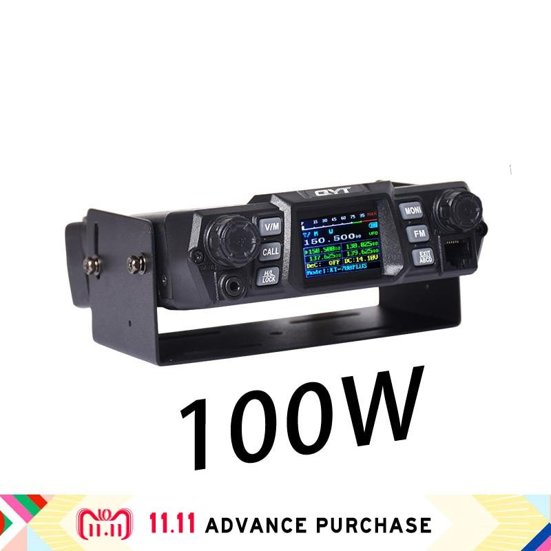 100W QYT kt 780plus VHF car radio walkie talkie station speakers comunicador intercom hunting column west ham buy china direct